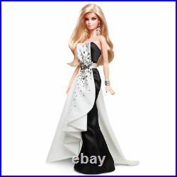 2013 BFMC Black &White Beaded Gown Platinum Barbie X8266 shipper Linda Kyaw NRFB