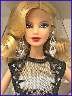 2014 Mattel Platinum Barbie Fan Club Black & White Collection Evening Gown NRFB
