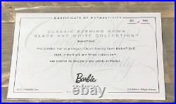 2015 Classic Evening Gown Barbie doll NRFB Black & White platinum label LE 999