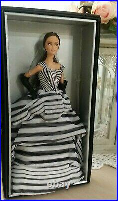 2015 NRFB Barbie Black & White Collection Chiffon Ball Gown Platinum Label Doll
