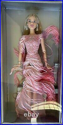 2016 Blush Fringed Gown Barbie Doll Platinum Label Fan Club Mattel NRFB