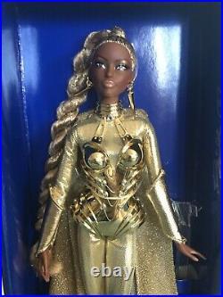 2017 NRFB Barbie Doll Golden Galaxy US Convention Platinum Label 330 Worldwide