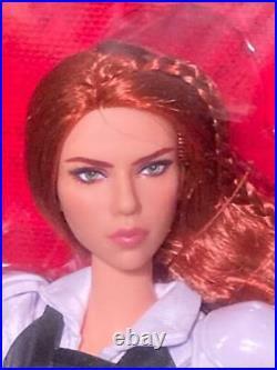 2020 Platinum Label Barbie Marvel Black Widow Doll Red Hair White Bodysuit NRFB