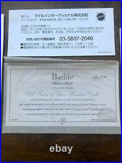 A Trace of Lace Blonde Silkstone Barbie Japan Exclusive Platinum Label NRFB