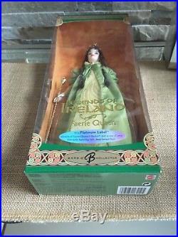 BRUNETTE LEGENDS OF IRELAND FAERIE QUEEN Barbie DOLL PLATINUM LABEL NRFB LE 500