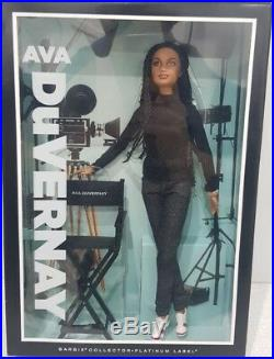 Barbie AVA DUVERNAY doll Platinum Label New NRFB Mattel for collectors