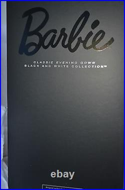 Barbie Doll Classic Evening Gown Black and White Collection Platinum Label 2015
