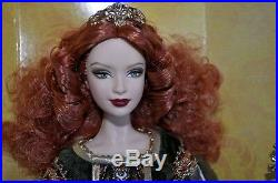 Barbie Doll Deirdre of Ulster 2007 Legends of Ireland Platinum new Toys R us Exc