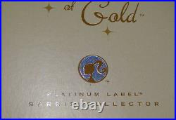 Barbie Glimmer of Gold Doll Platinum Label WithShipper NRFB Free Ship U. S. Xb1a