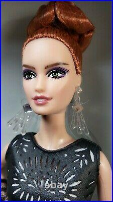 Barbie Laser Leatherette Dress Black & White collection Platinum Label NRFB New