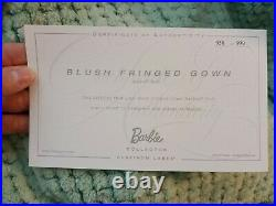 Barbie Platinum Label Blush Fringed Gown 2016 #958/999 Excellent Condition