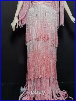 Barbie Platinum Label Blush Fringed Gown Limited Edition FASHION ONLY