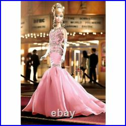 Barbie Silkstone THE SOIREE Pink 2007 PLATINUM LABEL M6195 NRFB + Shipper