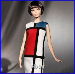 Barbie Yves Saint Laurent Doll Mondrian Platinum Label 2018 Nrfb Mint In Box