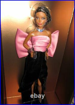 Barbie Yves Saint Laurent YSL Black & Pink Paris Evening Gown with big bow NRFB