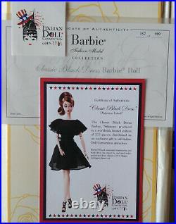 Barbie silkstone classic black dress IDC Milan convention 2016 NRFB