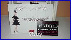 Barbie silkstone classic black dress MFDS Madrid convention 2016 NRFB