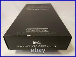 Beaded Gown Barbie Doll Bfc Black & White 2012 Platinum Mattel X8266 Nrfb