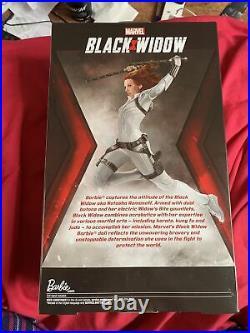 Black Widow Signature Barbie Doll Marvel Comics Platinum Label Mattel Nrfb