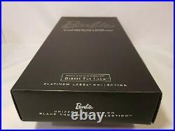 Chiffon Ball Gown Barbie Doll Bfc Black & White 2015 Platinum Mattel Dgw59 Nrfb