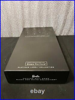 Chiffon Ball Gown Barbie Doll Platinum Label Black White Collection Mattel Dgw59