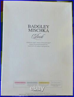 Designer Badgley Mischka Bride Barbie 2004 Platinum only999 worldwide B8946 NRFB