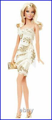 Glimmer of Gold Barbie Doll #R4495 2010 Mattel NRFB Platinum label