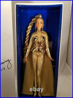 Golden Galaxy 2017 Convention Barbie Doll Nib Signed By Designer Limited