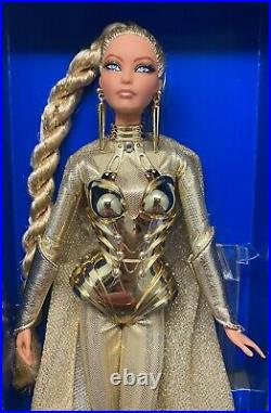 Golden Galaxy Barbie 2017 NBDCC Doll Platinum Label NRFB VLE 650