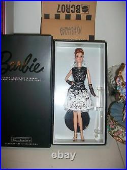LOT of 3 Platinum BFCM Laser Leatherette Barbie Valentine Cupid Kisses