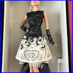Laser Leatherette Barbie Black White Collection Platinum Label NRFB MIB