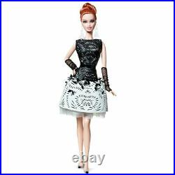 Laser Leatherette Dress Barbie Black White Collection Platinum Label BCR07 NRFB