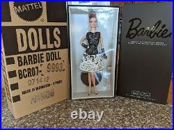 Laser Leatherette Dress Barbie Platinum label doll NRFB Mattel Less then 1,000