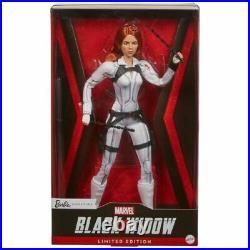 MARVEL BLACK WIDOW BARBIE in White Suit Platinum Label in Stock Mint