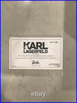 MIB 2014 Karl Lagerfeld Platinum Label Barbie Collector Doll #453 of 999 RARE
