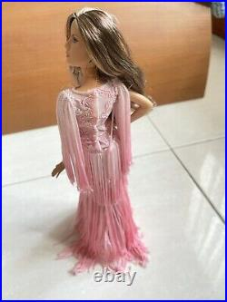 Marisa Model Of The Moment Wearing Blush Fringed Gown Barbie Doll Platinum Label