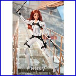 Marvel Studios Articulated Black Widow Barbie Doll & Body Suit Armor & Boots