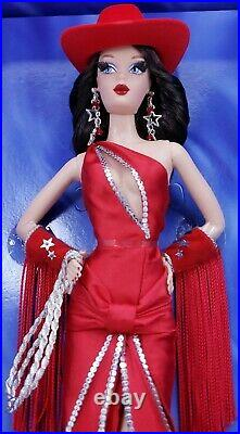 Mattel 2007 BRUNETTE DALLAS DARLIN Denim & Diamonds Convention Barbie L8812 NRFB