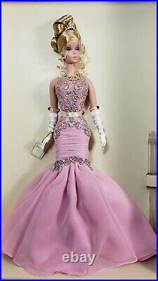 Mattel Silkstone Barbie The Soiree Platinum Label Pink Gown L. E 999 NRFB