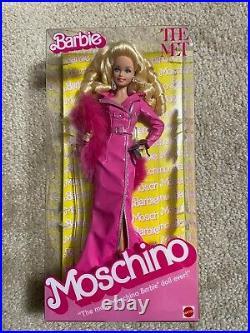 NEW! 2019 Met Gala MOSCHINO Barbie Doll NRFB Platinum Label Caucasian
