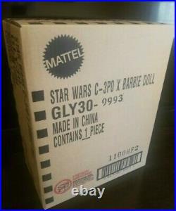 New 2020 STAR WARS C-3PO 3cpo c3po BARBIE DOLL Gold Label + Shipper Box