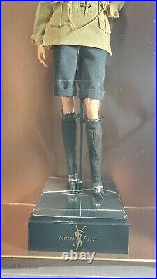 Nrfb Barbie N526 Platinum Label Yves Saint Laurent Safari Blonde Karl Doll Mib