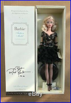 PLATINUM LABEL BLONDE BARBIE SILKSTONE A TRACE OF LACE NRFB #356/500 Signed