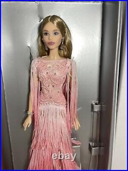 Pink Barbie Doll BLUSH FRINGED GOWN BARBIE 2017 Platinum Label BFC Collection