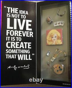 RARE BRAND NEW Platinum Label Barbie Andy Warhol Doll NRFB Mattel 2015