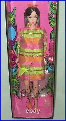 SIGNED Platinum Label Brunette All That Jazz Barbie Doll NRFB Japan Exclusive