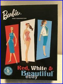 SIGNED RED WHITE & BEAUTIFUL BARBIE 2009 National Convention Gift Set LE
