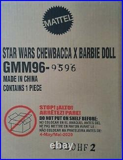 UNOPEN SHIPPER BOX CHEWBACCA BARBIE DOLL Platinum Label STAR WARS