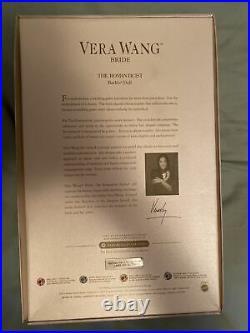 Vera Wang Bride The Romanticist Barbie Doll New in Box Gold Label L9652 2008