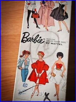 Vintage 1962 Barbie No. 850 Blonde Bubble Cut Barbie Red Swimsuit In Box